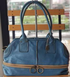 Authentic Rabeanco Blue Large Satchel