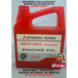 MITSUBISHI FULLY SYNTHETIC ENGINE OIL (4LITER) 5W-40 (OFFER/CHEAP)