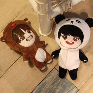 BTS Taehyung and Jungkook (VKook) Plush Doll / Standing Doll Set
