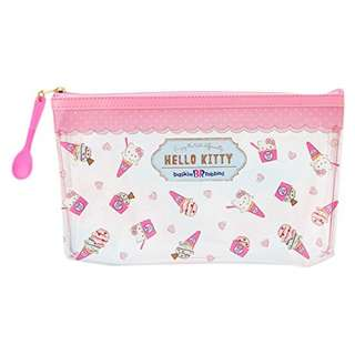 Last Piece Ready Stock Japan Sanrio Hello Kitty x Baskin Robbins Ice Cream Clear Pouch