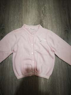 Baby Girl Pink Knit Sweater