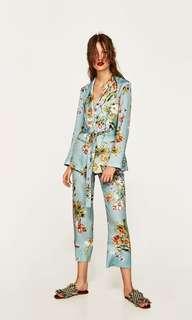 Zara Inspired- Floral Blazer & Trouser Set
