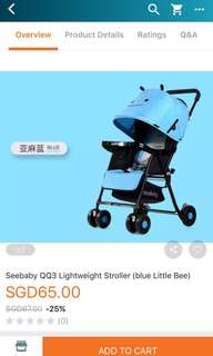 Seebaby qq3 stroller (little bee)