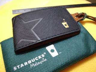 [NEW] Authentic Starbucks Leather Magnetic Luggage Tag