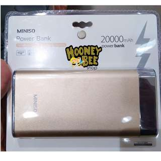 Japan Quality - Battery Cadangan Power Bank 20000Mah Miniso
