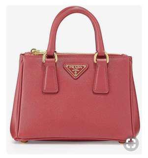 🚚 Prada saffiano mini Galleria crossbody bag