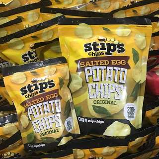 Stips Chips Salted Egg Potato Chips