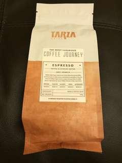 TARZA香醇咖啡豆 ( 200克 ),如圖,現售$55/包。  茘枝角交收,其他地點時間互就。