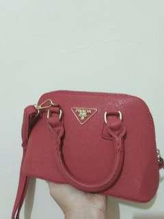 Sling Bag Red Prada Premium -SALE