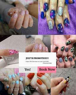 Gel nail July 2018 promotion!