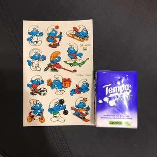 (包平郵)藍精靈貼紙 The Smurfs sticker