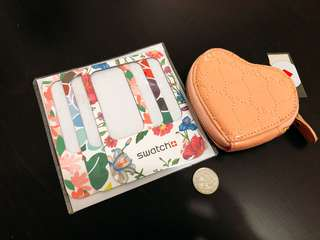 Bundle: Heart Coin Purse and Magnetic Frame