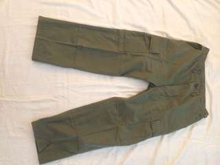 Military Olive Cargo Pants