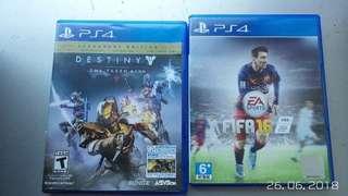 Paket Kaset BD FIFA16 dan Destiny: The Taken King (Legendary Edition) PS4 Second Original Mulus