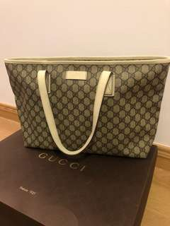 Authentic Gucci Women's GG Supreme Tote