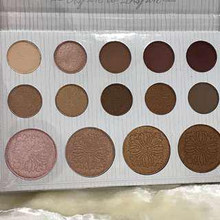 BH COSMETICS CARLI BYBEL EYESHADOW & HIGHLIGHTER PALETTE 28g
