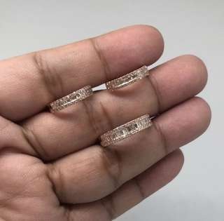 baguettes earrings and ring set