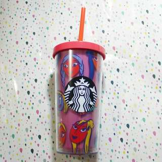 Starbucks tumbler summer 2018 pink TALL