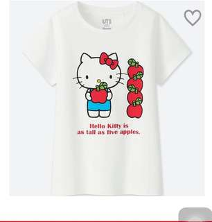 🚚 Uniqlo kids印花短袖T恤kitty