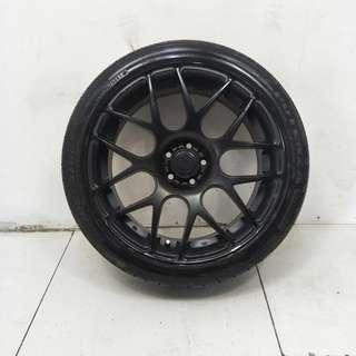 18 '' Black Sports Rim With Tyres 5x100 (SR1086)