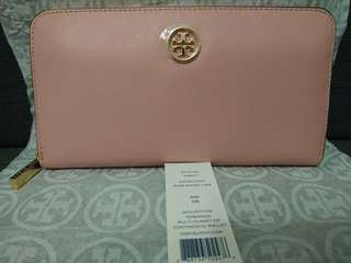 100% Real & New Tory Burch Pink 真皮銀包