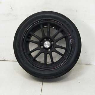 15 '' Rays RE30 (replica) Black With Tyre 4x100 (SR969)