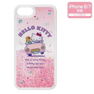 Sanrio 日本正版 Hello Kitty 暑假系列 iPhone8/7 case 透明 手機殼 硬殼