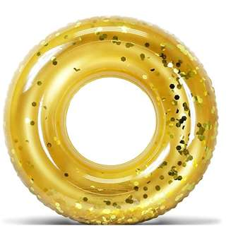 Gold Confetti inflatable swim ring/ pool float 36 Inches (Pre-order)