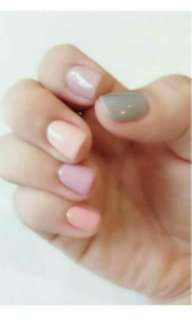 Gel nail 5 different colors