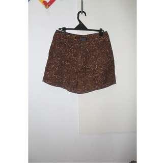 Printed Brown Shorts
