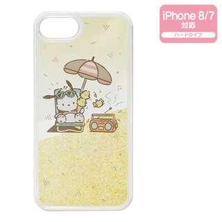 Sanrio 日本正版 PC狗 Pochacco 暑假系列 iPhone8/7 case 透明 手機殼 硬殼