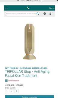 Tripollar Stop Anti Aging Facial Skin RF Treatment Limited Edition