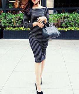Zara Stripes Dress Bodyfit
