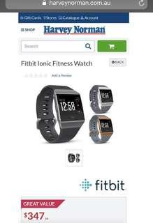 Fitbit Ionic Smart Fitness Watch (Blue Grey/Silver)