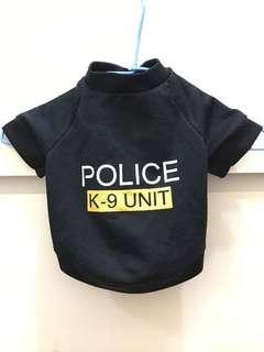 貴賓衣服 小型犬 警察T