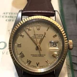Rolex 16013 DATEJUST 金剛羅馬字面 香港出世紙 浄表頭配皮帶行走正常