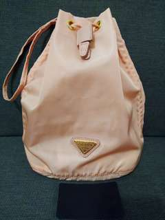 100% Real Prada Bag 蝦肉粉紅色索繩手挽側揹袋