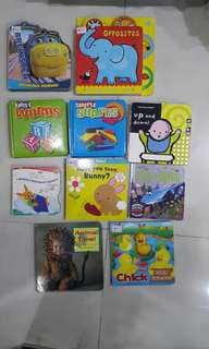 Baby board books in bundle