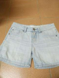 Shorts Denim Blue Faded Colour