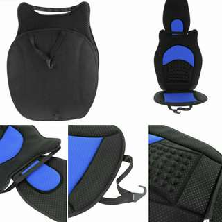 Full Set Blue Car Seat Cushion