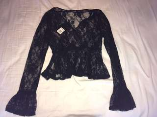 Missguided lace shirt with tags