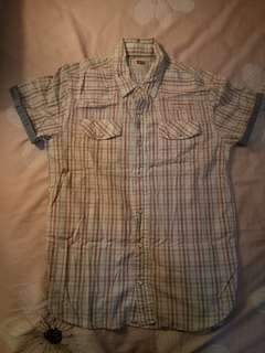 Levis | Collared Beige Plaid Polo