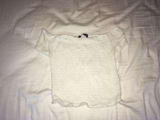Brandy Melville White off shoulder top
