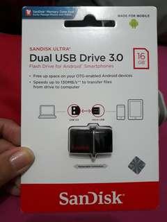 SANDISK ULTRA DUAL USB Drive 3.0 (16GB)