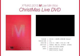 Shinhwa M - X10MAS 2013 M Lee Min Woo Christmas Live dvd