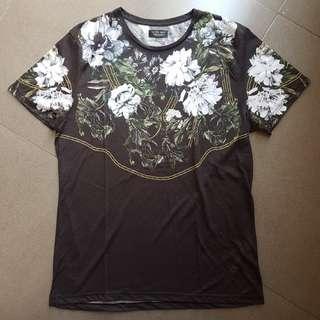 ZARA Man Floral Tshirt