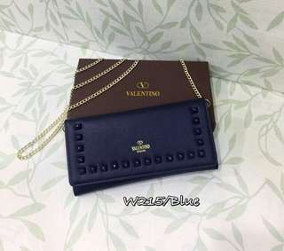 Valentino Wallet On Chain Blue Color