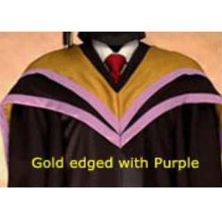 NTU Nanyang Business School Master Degree Graduation Gown
