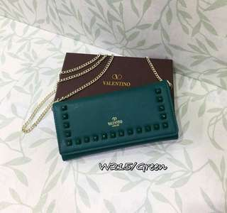 Valentino Wallet On Chain Green Color