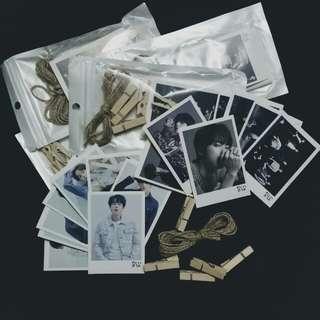 BTS lomocard + string & clip